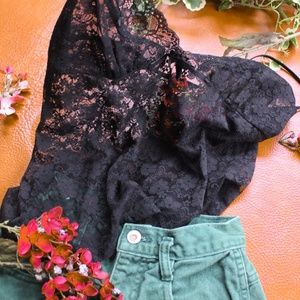 SALE🌻 Delicate Black Sheer Lace Cami Top